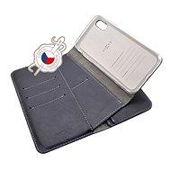 FIXED Double Book pro Apple iPhone X/XS modré - Pouzdro na mobilní telefon