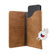 FIXED Pocket Book pro Apple iPhone 6 Plus/6S Plus/7 Plus/8 Plus/XS Max hnědé - Pouzdro na mobil