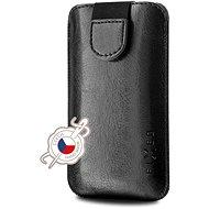 FIXED Soft Slim se zavíráním PU kůže velikost 4XL+ černé - Pouzdro na mobilní telefon
