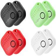 FIXED Smile 8-PACK 2x černý/2x bílý/2x červený/2x zelený - Bluetooth lokalizační čip