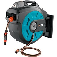 Gardena wall box on a 35 roll-up autopmatic Li-Ion hose - Garden Hose Reel