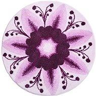 GRUND DAR NĚHY Mandala kruhová o 80 cm, fialová - Koupelnová předložka