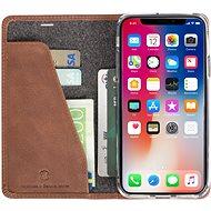Krusell SUNNE 4 CARD Foliocase pro Apple iPhone X, hnědá - Pouzdro na mobilní telefon