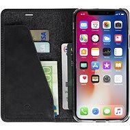 Krusell SUNNE 4 CARD Foliocase pro Apple iPhone X, černá - Pouzdro na mobilní telefon
