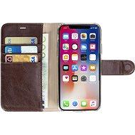 Krusell EKERÖ FolioWallet 2in1 pro Apple iPhone X, kávová - Pouzdro na mobilní telefon