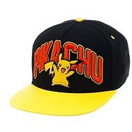 Pokémon Pikachu Black Snapback With Yellow Bill - Kšiltovka