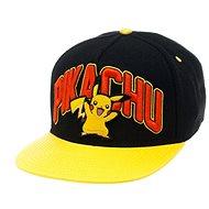 Pikachu Black Snapback Pokemon With Yellow peak - Cap