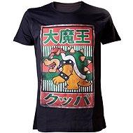 Nintendo Bowser Kanji - černé - Tričko