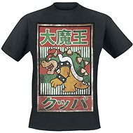 Nintendo Bowser Kanji - černé -XL - Tričko