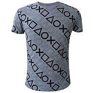 Playstation - motiv tlačítek- šedé - Tričko