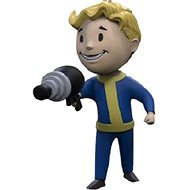 Fallout Vault Boy 3D - Energy Weapon - Charm - Keyring
