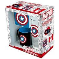 Captain America set - hrnek, podtácek, sklenice