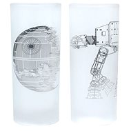 Death Star & AT-AT Walker - 2x sklenice