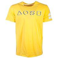 Playstation Logo žluté - tričko - Tričko