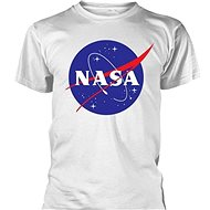 NASA Logo bílé - tričko S - Tričko