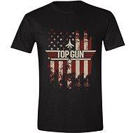 Top Gun: Distressed Flag - tričko M - Tričko