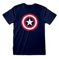 Captain America - Shield Distressed - tričko XXL - Tričko