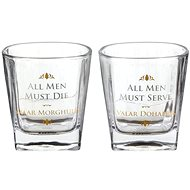 Game of Thrones - All Men Must Die - 2x sklenice - Sklenice na whisky