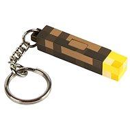 Minecraft - 3D Torch - svítící přívěsek na klíče