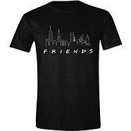 Friends - Logo and Skyline - tričko S - Tričko
