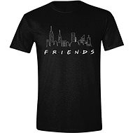 Friends - Logo and Skyline - tričko XL - Tričko