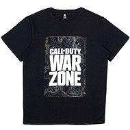 Call of Duty: Warzone - Black Map - tričko - Tričko