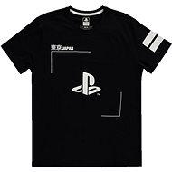 PlayStation - Black and White Logo - tričko S - Tričko