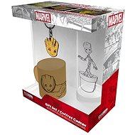Marvel - Groot - mini hrnek, sklenice, přívěšek - Dárková sada