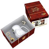 Dárková sada Harry Potter - Hedwig - 3D hrnek, přívěšek, odznak