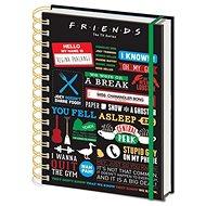 Friends - Infographic - zápisník s kroužkovou vazbou