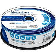 MediaRange BD-R (HTL) 50GB Dual Layer Inkjet Printable, 25ks cakebox - Média