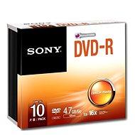 Sony DVD-R 10ks v SLIM krabičce - Média