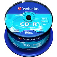Verbatim CD-R DataLife Protection 52x, 50ks cakebox - Média
