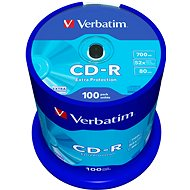 Verbatim CD-R DataLife Protection 52x, 100ks cakebox - Média