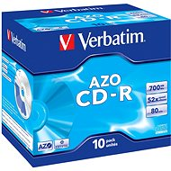 Verbatim CD-R DataLifePLUS Crystal AZO 52x, 10pcs in box - Media