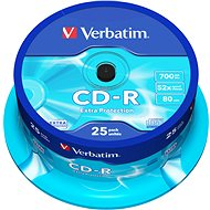 Verbatim CD-R DataLife Protection 52x, 25ks cakebox - Média