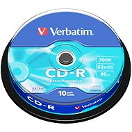 VERBATIM CD-R 700MB, 52x, spindle 10 ks - Média