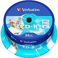 VERBATIM CD-R AZO 700MB, 52x, printable, spindle 25 ks