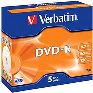 VERBATIM DVD-R AZO 4.7GB, 16x, jewel case 5 ks - Média