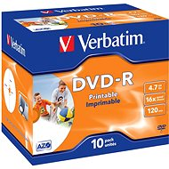 VERBATIM DVD-R AZO 4.7GB, 16x, printable, jewel case 10 ks - Média