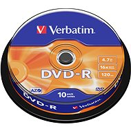Verbatim DVD-R 16x, 10ks cakebox - Média
