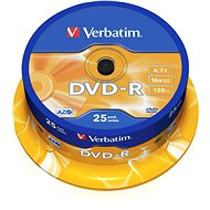 VERBATIM DVD-R AZO 4.7GB, 16x, spindle 25 ks - Média