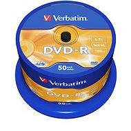 Verbatim DVD-R 16x, 50ks cakebox - Média