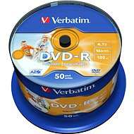 VERBATIM DVD-R AZO 4.7GB, 16x, printable, spindle 50 ks - Média