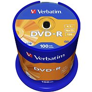 VERBATIM DVD-R AZO 4.7GB, 16x, spindle 100 ks - Média