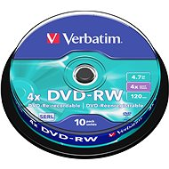 Verbatim DVD-RW 4x, 10ks cakebox - Média