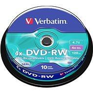 Verbatim DVD-RW 4x, 10ks cakebox - Média