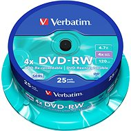 Verbatim DVD-RW 4x, 25ks cakebox - Média