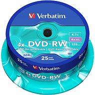 VERBATIM DVD-RW SERL 4.7GB, 4x, spindle 25 ks