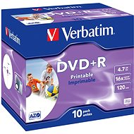 VERBATIM DVD+R AZO 4.7GB, 16x, printable, jewel case 10 ks - Média